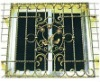 Forged iron window fence