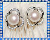 2012 9-10mm button AAA pearl majorica pearl earrings