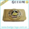 classical designer metal coin money clip