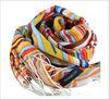 Stripe multicolour wool scarf shawl