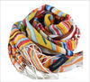 Stripe multicolour wool scarf shawl