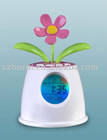 Solar flower table digital calendar with nature voice