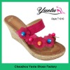 woman natural material slippers
