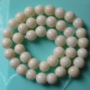 10mm round white coral beads