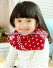 2012 Fashion Cute Snow Flakes knitted children christmas scarf Xmas scarves