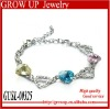 High quality latest crystal heart bracelet