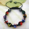 small MOQ handmade wholesale colorful shambhala bracelet chain Hematite