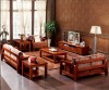 F001 2012 chestnut color rubber wood sofa