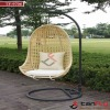 wicker hanging swing egg chair