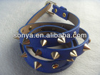 New fashion pyramid skinny ladies belt with rhinestone