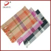the most classic 100%mercerized wool checked scarf with 2011 accessory