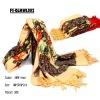 printing wool scarf
