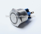 Industrial waterproof push button(anti-vandal stainless steel switch)