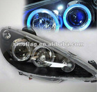 PEUGEOT 206 auto lights led angel eye