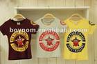 2012new design korea style printing fashion t-shirts boy