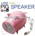 MINI USB PIG MP3 SPEAKER WITH AM/FM RADIO