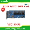 Dahua 16 channel dvr card VEC1604FB H.264 16chs video&audio TI TMS320DM645 realtime D1
