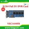 Dahua 16 channel dvr card VEC1604FB H.264 16chs video&audio TI TMS320DM645 realtime D1