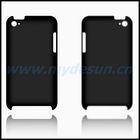 Premium Rubberized Protector Hard Cover for iTouch 4 (Black)