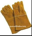 14 inch/16 inch yellow colour cowhide split leather welding glove