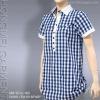 ladies' cotton check blouse