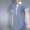 ladies' cotton check blouse