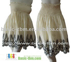 2 Way Embroidery Design Cotton A-line Skirt