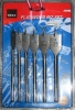 6 PIECE FLAT WOOD DRILL SET