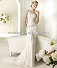 PW0002 2013 Simple but Elegant one shoulder exquisite beaded gorgeous ruffled alibaba wedding dress