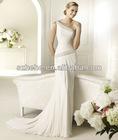 PW0002 2013 Simple but Elegant one shoulder exquisite beaded gorgeous ruffled alibaba wedding dress