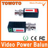 CCTV via twisted pairs transmission balun video