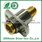 SMA Female To BMA Female RF Adapter 2 Hole Flange
