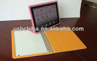Professional factory pu leather case for IPAD 2 / 3 with wake-up function