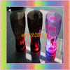 led plastic glass with multicolor led light 350ml press on off switch