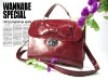 unique big bow lip maroon PU handbags bags for 2013 srping