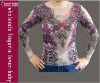 Purple Butterfly Tattoo Long Shirts