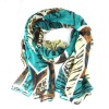 Fashionable Lady's Voile Silk Printed Scarf