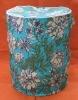 flower design foldable laundry basket