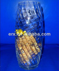 American football etched glass vases