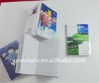 clear PVC cover notepad