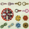 Fashion round rhinestone button