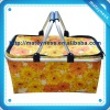 Foldable outdoor picnic shopping basket