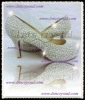 8cm red bottom c+l shoes all cream /ivory pearls high heels shoes pumps handmade wedding shoes