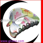 Heart shape colorful pattern hair claw