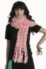 2012 knitted fashion scarf with rabbit fur (JSWJ-127)