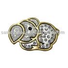 Fashion Brooch,Silver Tone Elephant Crystal Brooch
