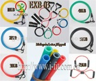 Rubber tube resistance bands fitness with carabiner