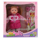 "16"" B/O fashion baby doll funny baby doll vinyl doll reborn doll with 4 sounds reborn doll"