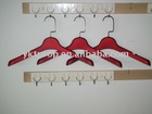 non-slip red rubber paint small plastic skirt hanger