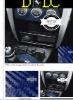 "DEDC 152cmx58cm 60"" x 24"" Blue 3D Carbon Fibre Vinyl Wrap Decal Sticker Film"